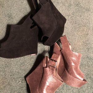 Two pair of Steve Madden wedges